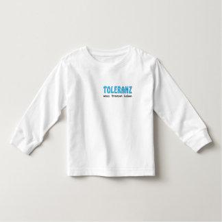 Toleranz muss Grenzen haben Kleinkind T-shirt