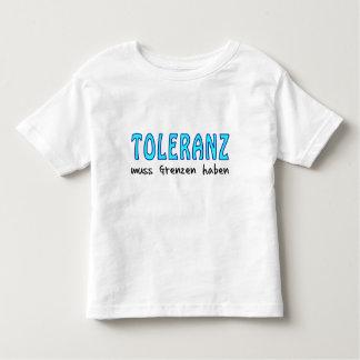 Toleranz muss Grenzen haben Kleinkinder T-shirt