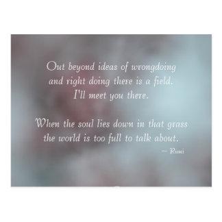 Toleranz Rumi Zitat Postkarte