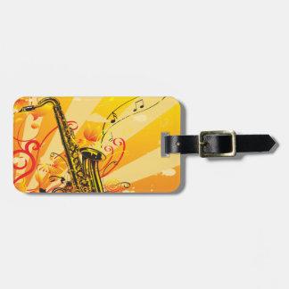 Tolle Saxophon-Strahlen von Musik Gepäckanhänger