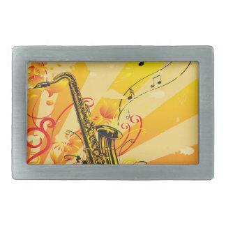 Tolle Saxophon-Strahlen von Musik Rechteckige Gürtelschnalle