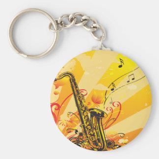 Tolle Saxophon-Strahlen von Musik Schlüsselanhänger