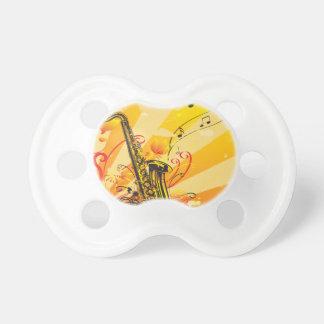 Tolle Saxophon-Strahlen von Musik Schnuller