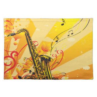 Tolle Saxophon-Strahlen von Musik Tischset