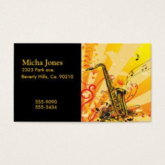 Tolle Saxophon-Strahlen von Musik Visitenkarte