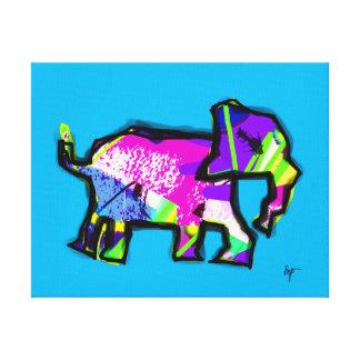 toller Elefantdruck Leinwanddruck