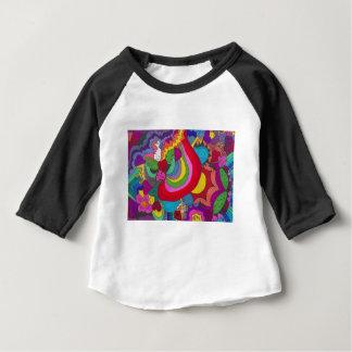 Tolles Muster Prinzessin-Einhorns Baby T-shirt