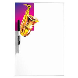 Tolles Saxophon Trockenlöschtafel