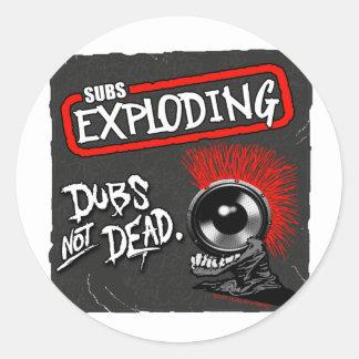 Tollpatsche Subs nicht absolut explodierendes Runder Sticker