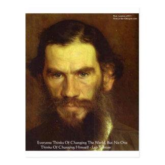 Tolstoy Klugheits-Zitat-Geschenke u. T-Stück Postkarte