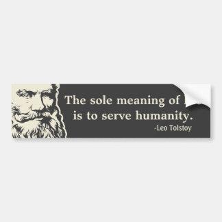 Tolstoy Zitat-Autoaufkleber