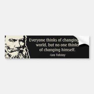 Tolstoy Zitat-Autoaufkleber Autoaufkleber