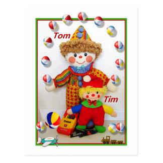 "TOM u. TIM ""erhalten wohle"" Postkarte"