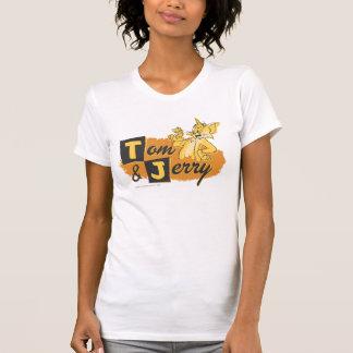 Tom- und Jerry-Maus im Tatzen-Logo T-Shirt