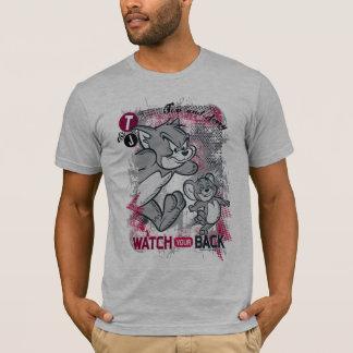 Tom und Jerry passen Ihre Rückseite auf T-Shirt