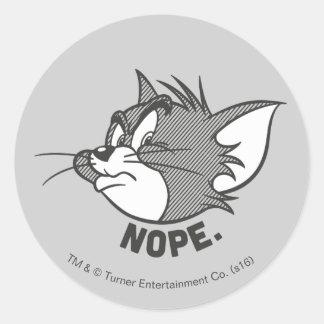 Tom und Jerry | Tom sagt Nope Runder Aufkleber