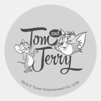 Tom und Jerry | Tom und Jerry, der süß schaut Runder Aufkleber
