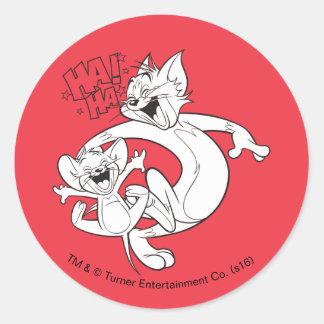 Tom und Jerry | Tom und Jerry-Lachen Runder Aufkleber