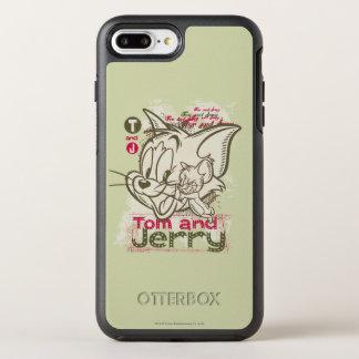 Tom und Jerryrosa und -GRÜN OtterBox Symmetry iPhone 8 Plus/7 Plus Hülle