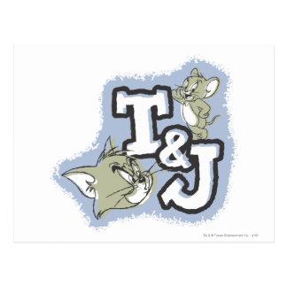 Tom- und JerryT&J Logo Postkarten