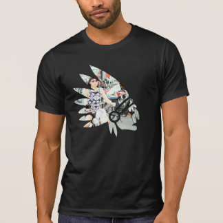 Tomahawk-amerikanisches Moped-Mädchen T-Shirt