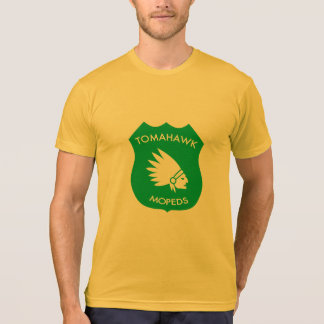 Tomahawk-amerikanisches Wappen - golden T-Shirt