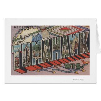 Tomahawk, Wisconsin - große Buchstabe-Szenen Karte