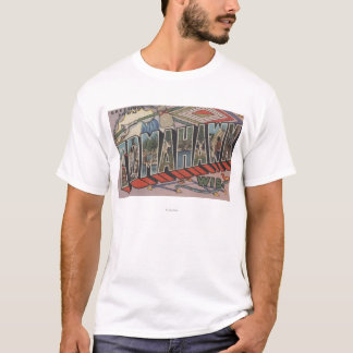 Tomahawk, Wisconsin - große Buchstabe-Szenen T-Shirt