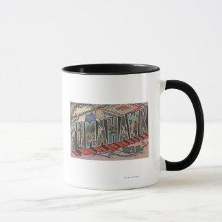 Tomahawk, Wisconsin - große Buchstabe-Szenen Tasse
