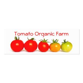 Tomate-Bio Bauernhof Jumbo-Visitenkarten