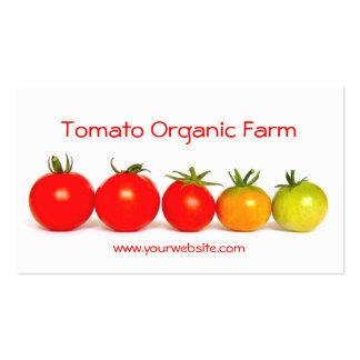 Tomate-Bio Bauernhof Visitenkarten