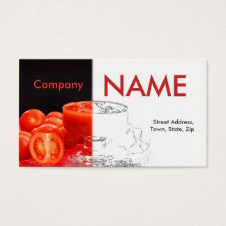 Tomate-frischer Saft-rotes Schwarz-weißes Visitenkarte