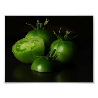 Tomate-grünes Stillleben Poster
