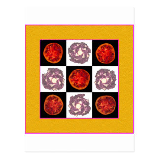 Tomate-Kohl-Gitter Postkarte
