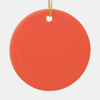 Tomate-roter Normallack Rundes Keramik Ornament