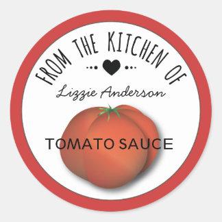 Tomate-rotes modernes von der Küche des Aufklebers Runde Sticker