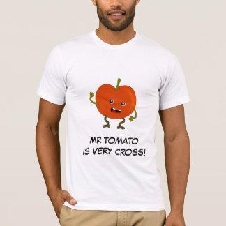 Tomate: Schlechte Frucht-Gruppe mit T-Shirt