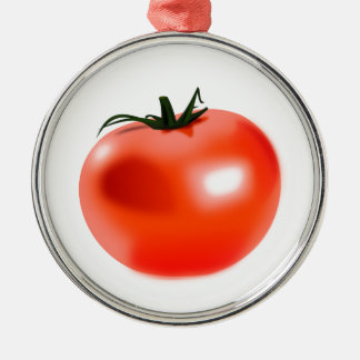 Tomate Silbernes Ornament