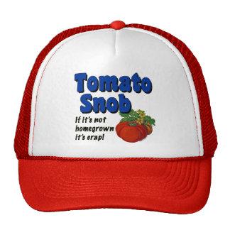 Tomate-Snob-Gärtner-Sprichwort-Hut Kult Mützen