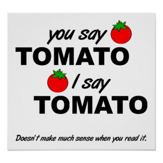 Tomate-Tomate-lustiges Plakat
