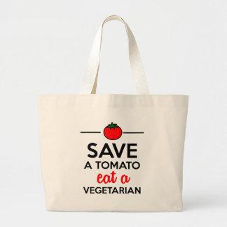 Tomate u Gemüse - retten Sie eine Tomate essen Tragetasche