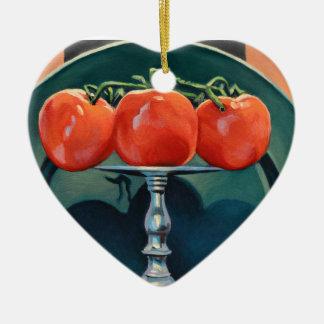 Tomate und Knoblauch Keramik Ornament