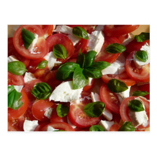 Tomate-und Mozzarella-Salat Postkarte