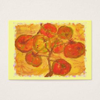 Tomategruppen-Wasserfarbe Visitenkarte
