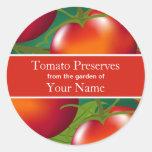 Tomaten, die Aufkleber einmachen