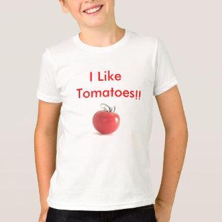 Tomaten, mag ich Tomaten!! - Besonders angefertigt T-Shirt