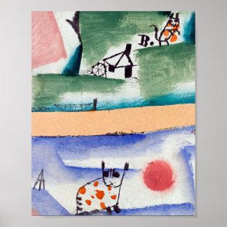 Tomcats Rasen: Paul Klee 1919 Poster