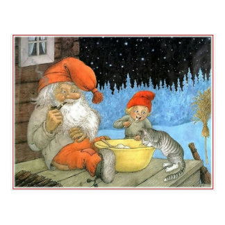 Tomte Nisse, alias Weihnachtsmann Postkarte