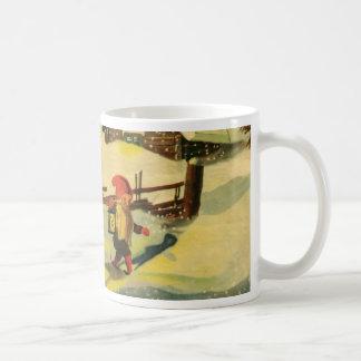 Tomten, das den Bauernhof aufpasst Kaffeetasse