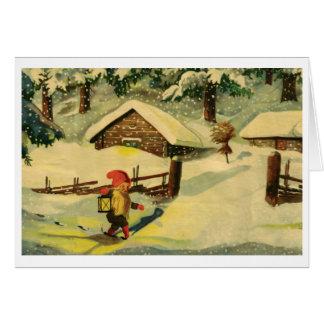 Tomten Weihnachtskarte Grußkarte